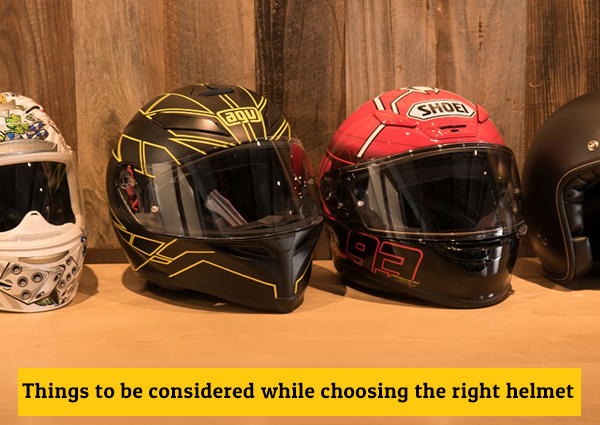 Things to be Considered While Choosing the Right Helmet