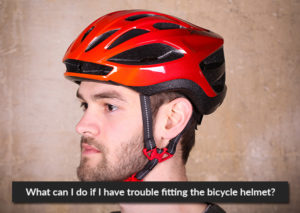 What can I do if I have trouble fitting the bicycle helmet