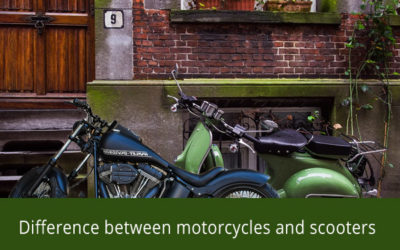 Difference between Motorcycle and Scooters.
